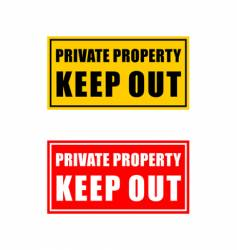 Private property signage vector
