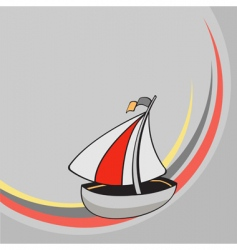 Cartoon sailing ship vector