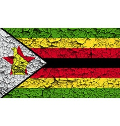 Flag of zimbabwe with old texture vector