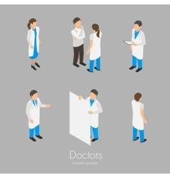 Set of doctors vector