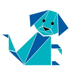 Dog origami style vector