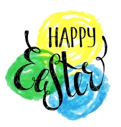 Happy easter handwriting inscription vector