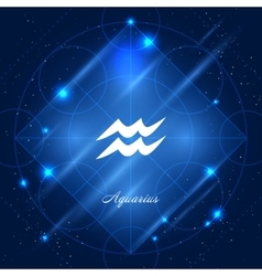 Aquarius sign of the zodiac vector image