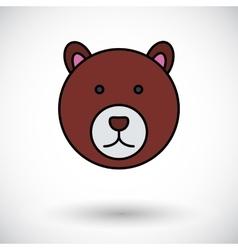 Bear icon vector image vector image