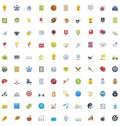 Big sport icon set vector