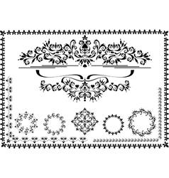 Black ornamental frame vector image