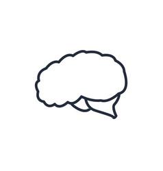 Brain organ human think intelligence icon vector