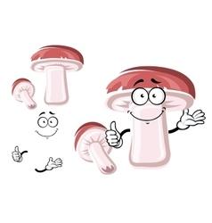 Cartoon king brown bolete mushroom vector