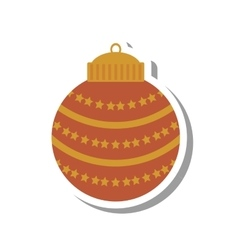 christmas ball decoration isolated icon vector image