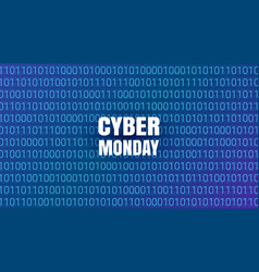 Cyber monday abstract technology background vector