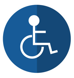 Disabled person wheelchair sign road shadow vector