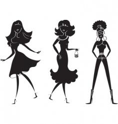 fashion girl19 vector image vector image