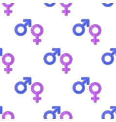 Female Male Symbols Seamless Pattern vector image vector image