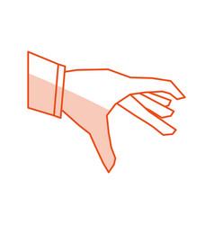 Flat line hand design vector