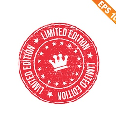 Grunge limited edition rubber stamp - - eps vector