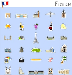 Icons of France vector image vector image