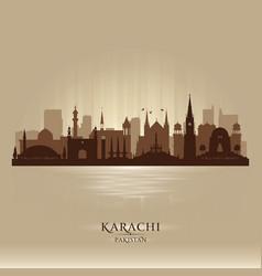 karachi pakistan city skyline silhouette vector image vector image