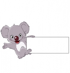 koala with sign vector image vector image