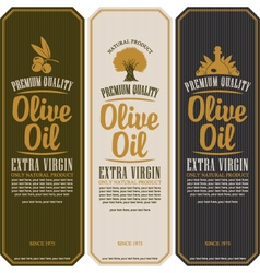 Labels for olive oils vector