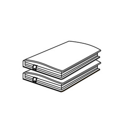 line notebooks paper document notes object vector image vector image