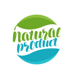 natural product logo or label organic icon vector image vector image