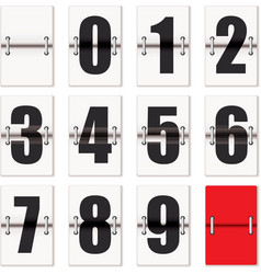 number flaps counter vector image vector image