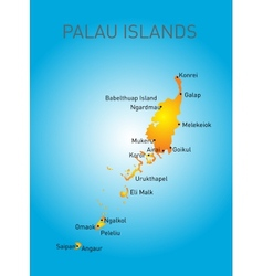 Palau map vector image