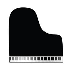Piano symbol and icon grand version vector