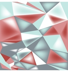 Poly triangle 3d seamless pattern vector
