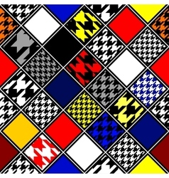 Retro hounds-tooths diagonal pattern vector