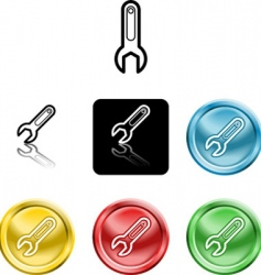 spanner icons vector image vector image