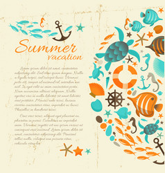 summer vacation grunge paper background vector image vector image