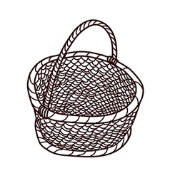The empty basket vector image vector image