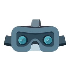 Vr headset isolated on white stereoscopic virtual vector