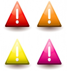 warning triangle vector image