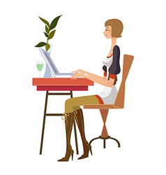 Woman at work vector