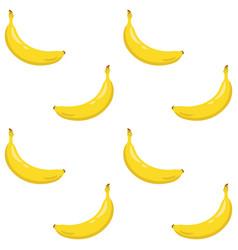yellow banana seamless pattern sweet tropical vector image