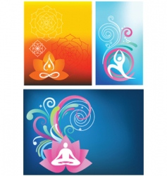 yoga backgrounds vector image vector image