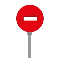 Sign do not enter traffic isolated vector
