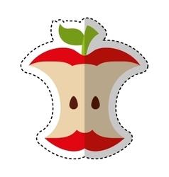 Apple scrap isolated icon vector