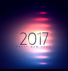 2017 holiday background with shiny lights vector