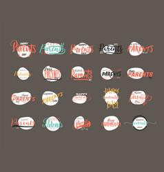 Parents day badge design  sticker stamp logo - vector