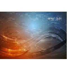 Abstract hi-tech wavy vector image