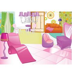 design of a female boudoir dressing table women vector image