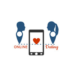 online dating app concept vector image
