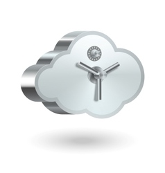 Cloud technology security vector