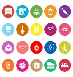 Celebration flat icons on white background vector