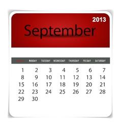 2013 calendar september vector