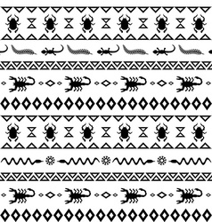 African tribal pattern ethnic ornament vector