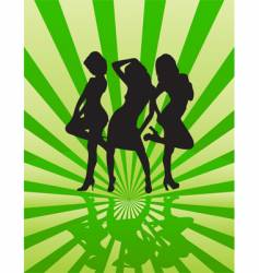 Party girls vector